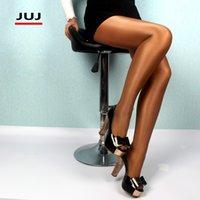 المرأة مثير السوبر مطاطا الرائعة الساقين جوارب النايلون جوارب نحيل بريق الجوارب منع هوك الحرير Collant الأوساط 201028