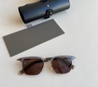 Новые дизайнерские моды мужчины женщины солнцезащитные очки 410 матовый металл плюс планки стекла ретро квадратная рамка высочайшее качество UV400 Защита с корпусом