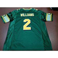 Benutzerdefinierte 121 Jugendfrauen Vintage Edmonton Eskimos # 2 Gizmo Williams Football Jersey Größe S-4XL oder benutzerdefinierte Name oder Anzahl Jersey