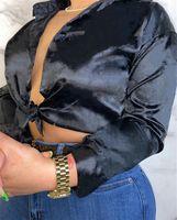 Caduta inverno camicie da donna top un pezzo set casual manica lunga lettera camicia cyps estate moda vestiti plus size 2x tshirts dhl nave 4208