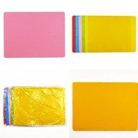 New Color Candy Silicone Pad Bambini Mangiare Placemat Quadrato Moda Tappetino da tavolo 40x30cm Arredamento per la casa Skid Hot Skid 3 8QF D2