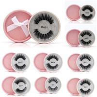 16 Стили 3D Faux Mink Ресницы False Mink Reelashes 3D Silk Белковые ресницы 100% ручной работы натуральные поддельные ресницы для глаз с розовой подарочной коробкой