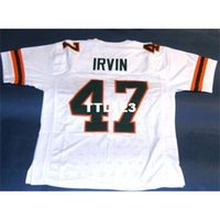 123 #47 MICHAEL IRVIN CUSTOM UNIVERSITY OF MIAMI HURRICANES JERSEY College Jersey size s-4XL or custom any name or number jersey