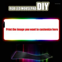 MrGBest Personalizza Qualsiasi immagine RGB LED Large Mouse Pad USB Wired Lighting Game Player Mousepad Keyboard Colorful Tappetino luminoso DIY1