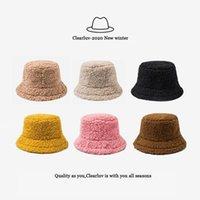 Geniş Brim Şapka Clearluv-Bayanlar Şapka Katı Yapay Kürk Sıcak Kadın Açık Güneş Sonbahar ve Kış Fashion1