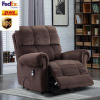 US STOCK fauteuil élévateur électrique avec la chaleur et le massage adapté pour les personnes âgées Home Living Room Lounge W501S00009