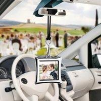 Création Pendentif Pendentif Cadre photo en métal pour une photo de bébé amoureux et familial Auto ornement intérieur intérieur décoration