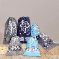 no tejidos de almacenamiento de zapatos bolsas de zapatos bolsa de la casa para guardar la bolsa de polvo bolsa con cordón de bolsillo 2 Tamaños 5 colores XD24045