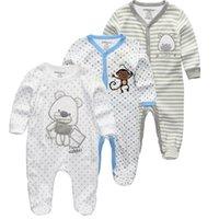 Kiddiezoom 2/3/4 pçs / set baby meninos camisetas roupas conjuntos de roupas recém-nascidos meninos meninos romper verão roupa infantil roupas trajes 20112