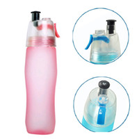 Newsport Refrigerando Spray Garrafa de Água 740ml 25oz Acampamento Ao Ar Livre Viagem Garrafa de Água Plástico Cup Frosted Garrafa de Água PPD3410