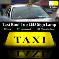 LED車のタクシー計のキャブ屋根の屋根の上の標識ライトランプ磁石磁石黄色のタクシードライバーボックス/