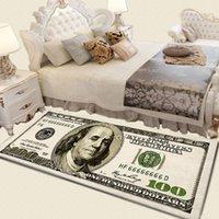Crative عدم الانزلاق منطقة البساط الحديثة ديكور المنزل السجاد عداء الدولار مطبوعة السجاد مائة دولار 100 بيل طباعة
