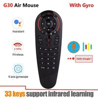 G30 2. 4G Gyroscope Wireless Air Mouse 33 Keys IR Learning Sm...