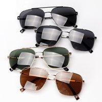 نظارات شمسية أزياء الرجال الاستقطاب القيادة uv400 مربع المعادن الإطار الذكور نظارات الشمس oculos lunette de soleil homme