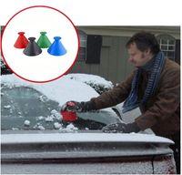 눈 리무버 마법 창 앞 유리 자동차 얼음 스크레이퍼 눈 던지는 콘 모양의 깔때기 객실 청소 청소 다기능 도구 VT1927