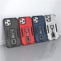 Armour aux chocs Matte Hard PC Cas arrière pour iPhone 12 11 PRO Max XR X XSMAX 7 8 Plus FALLAXY S10 S20 Note 20 10 cas