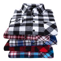 2020 New Men's Plaid Shirt Flanella Plus Size 5XL 6XL SOFT SOFT SOFT PRIMAVERA maschio Slim Fit Business Casual Shirt a maniche lunghe