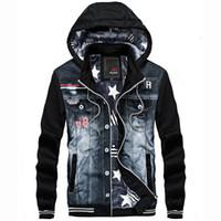 YWSRLM мужчины толстые зимняя куртка Denim джинсы Мода Повседневная спортивная одежда с капюшоном Толстовки ковбой куртки Мужские куртки пальто Азии размер Y200930