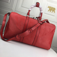 Mode schwarz Wasser Welligkeit 45 cm Sport Duffle Bag Rot Gepäck M53419 Mann und Frauen Billise Taschen mit Schloss Tag