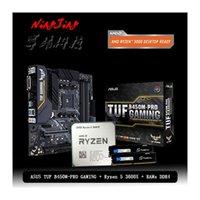 RAMS AMD Ryzen 5 3600X R5 وحدة المعالجة المركزية + ASUS TUF B450M Pro الألعاب الأم + Pumeitou DDR4 2666MHZ دعوى مأخذ AM4 دون برودة