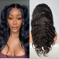 Full Lace Brazilian Human Hair Body Wave Wigs with Baby Hair...