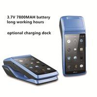 Yazıcılar Shenzhen Android Terminali Rugged Dokunmatik Ekran El Taşınabilir 3G Bluetooth 58mm Makbuz Yazıcı Makinesi ile