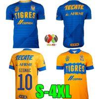 20 21 7 Star Naul Tigres Casa Futebol Jerseys 2020 Tigres Abaixo de Gignac Azul Camiseta de Foot Maillot Futebol Camisa Terceiro Futebol Uniforme S-4XL
