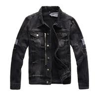 Neue Design Herren Designer Mens Jacke Mode Tide Denim Jacke Hip Hop Mantel Hohe Qualität High Street Mantel Verkauf Reißverschluss EU US-Version M-4XL