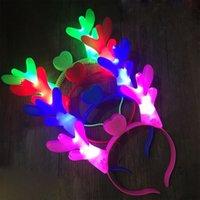 Halloween Grand Flash en plastique LED lumineux HOOP Lampe de corne lumineuse et lumineux Lumineux décoration de Noël Chapeaux de fête Livraison gratuite