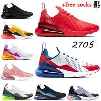 Nike Air Max 270 Con i calzini 2021 Mens delle donne Verde Nero Bianco 270S Cuscino scarpe da corsa d'ariamaxairmax Triple Sport Sneakers Atletica uomini Formatori