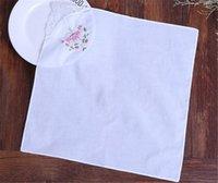 Свадебная польза хлопка Handkerchief девушки Салфетка вышитая Женщины Салфетка вышитая бабочка кружева цветок Handkerchief Главная посуда