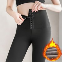 High Waist Leggings Women Stretch Velvet Legging Pants Push Up Winter Leggings for Women Elastic Fitness Gym Thick Legging 201203