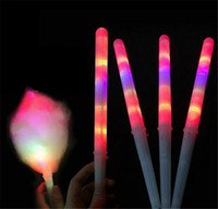 Magic LED Light Sticks Sticks Cadeau de Noël Fournitures Clignotant LED Stick Candy 2020 LED Coton Candy Glow Glow Sticks