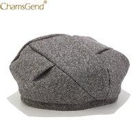 여자 겨울 모자 베레모 여성 모자 6 색 새로 디자인 여자 모자 레이디 페인터 스타일 패션 베레모