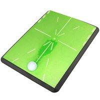 "Champekey 13 ""17"" Tapete de golfe Mini Putting Ball Pad Pratic Practice Indoor Golf Outdoor Golf Verde Prática Máquina de escritório Lavável"