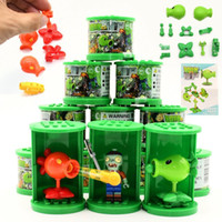 Blind box lotter Plants vs Zombies Figures Building Blocks PVZ Action Figures Dolls Game Brick Toys For Children Collection Toys LJ201031