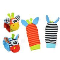 Baby Toy Socks Sozzy Baby Младенческая Игрушка Мягкие Рукослины Детские Милые Мультфильм Животные Могут встряхнуть Носки Дискомплекты Фаршированные Игрушки Рождественский подарок YHM102