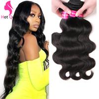 "Indian Virgin Human Hair Weave Bundles Body Wave 24"" 26 28 30 32 India Malaysian Peruvian Cambodian Mongolian Remy Hairs Extension Dyeable for black women"