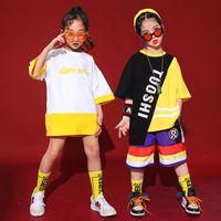 Kids Hip Hop Ballroom Dance Clothing for Girls Boys Jazz Dancing Costumes T Shirt Jogger Short Pants Street Stage Clothes Wear