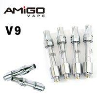 V9 Amigo Liberty Kartuşları 510 Konu Seramik Bobin 0.5 ML 1.0 ML Vape Kartuşları E Sigara Arabaları Üst Airağı Boş Kalem Ayarlanabilir Atomizer