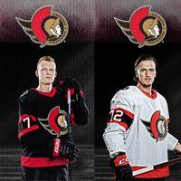 Ottawa Senators 2021 Thomas Chabot Tim Stuetzle Evgeni Dadonov Colin White Artem Anisimov Connor Brown Tierney Chabot Nikita Zaitsev jerseys