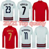 Team National Team Long Soccer Jerseys Ronaldo Joao Felix Casa Away Youts Camicia da calcio 20 21 Camicie da calcio in Portoghese Camisa de