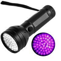 Hot 395nm 51led UV Torcia ultravioletta UV LED Blacklight Torch Light Lighting Lamp Shell in alluminio per all'aperto Camping Escursionismo