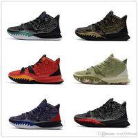 Yeni Sürüm Kyrie 7 Erkek Basketbol Ayakkabı 7s Mavi Köpekbalığı Irving Erkek Eğitmenler Spor Spor ayakkabılar Boyutu 7-12 Bred