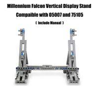 Millennium Brinquedos Falcon Vertical Display Stand Compatível com 05007 e 75105 Ultimate Collector's Modelo C1114