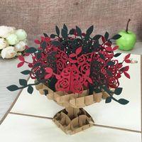 Rad 3D Origami Handmade Ferris Design Pop Up Laser Cut Post Geburtstag Valentine Grußkarten 8 N5bga