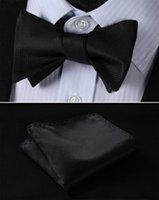 Шея галстуки BC2001L Pure Black Check Classic 100% шелковые жаккардовые тканые мужчины бабочка самоуправления галстука бабочка бабочка карманный квадрат костюм платок