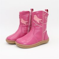 Tipsietoes Top Brand Barefoot Натуральная Кожа Малыш Малыш Девушка Детская Обувь Для Мода Зимние Снежные Сапоги Бесплатная Доставка LJ201203