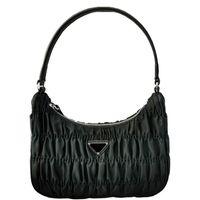 2021 Designer Luxury Handväskor Kvinnor Plånböcker Axelväska Resor Vintage Bagage Bag Fashion Pleated Coin Purse Bag Half Moon Väskor