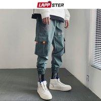 Leppster Hip Hop Joggers Pantalons Hommes Mens Japonais Streetwear Harem Pantalons Homme Black Casual Sweacters Fashion Pantalons 201110